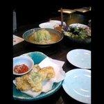 泰尚 - 泰尚:穴子天ぷら、サラダなど