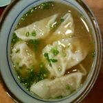 来らっせ - 料理写真:来らっせ 日曜日メニューの青源 みそ餃子スープ