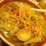10800596 - ネギ塩雲呑麺790円也。さっぱりして麺もシコシコ