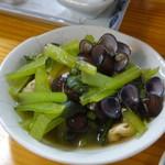 つきのや - しじみと小松菜の煮浸し