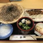 豊福 - ざるそばと穴子箱寿司のセットをいただきました(2019.5.19)