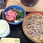 108005228 - ミニマグロ丼もりそばセット690円(税込)