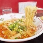 中華そば 駒 - 黄色い中細麺がナンといっても美味いんです(^^♪