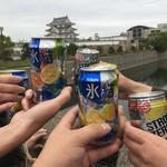 みつぼ - 尼崎城の前で本日3回目のキャンパイ☆