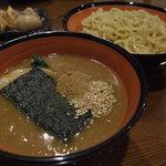 初代麺松 - ベジポタつけめん(鶏、豚骨、魚介、ベジポタ 4種類のスープを組み合わせた濃厚スープ)