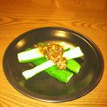 初代麺松 - きゅうりの浅漬け