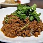 カフェ カナル 1610 - 山盛りパクチーのキーマカレー