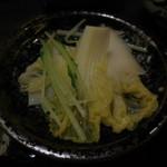 しゃぶ禅 -  しゃぶしゃぶのスープで調理した野菜各種・その2です。