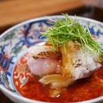 京天神 野口 - 炙りのどぐろ、新玉葱