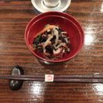 和・豊田 - お通し(ひじきの煮物)