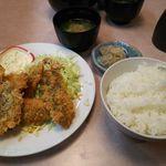 丼 万次郎 - あじフライ定食