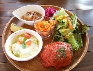 Cafe terrace kikinomori - ハンバーグのプレート