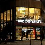 マクドナルド - 夜の様子。
