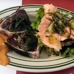 ペルテ - お魚の前菜(鰹とサーモン)
