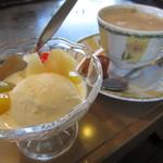 どんじゃ - セットのデザート プラスでコーヒー