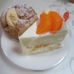 セ・ラ・セゾン! - 清美オレンジのショートケーキ&シュークリーム