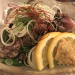 榮鶏庵 - 地鶏のタタキ