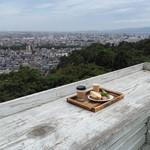 足羽山デッキ - モーニングセット(屋上テラスにて)