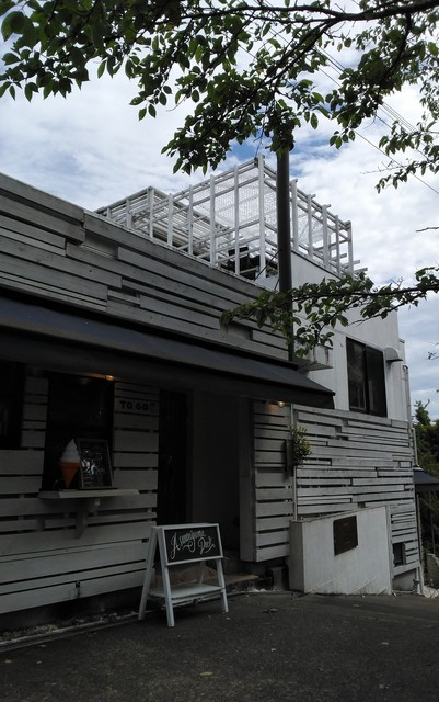 足羽山デッキ - お店の前
