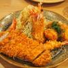 とんかつ万福 - 料理写真:エビロース貝柱ミックス定食