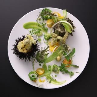 野菜で描くアートな一皿<美しいサラダ>