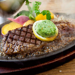 牛 鉄板 サーロインステーキ  四海盃油ソース