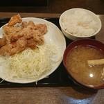 南蛮食堂 - 相方の和風鶏から定食