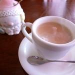 土筆 - ドリンク写真:カフェオレ