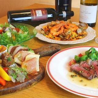 イタリア各地の郷土料理をお気軽に。旬の味覚でお作りします*