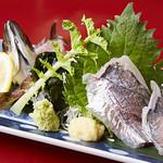 海鮮酒場 魚波 - アジ刺身