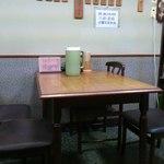 たつ - テーブル席入口側