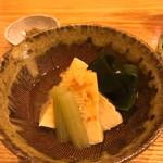 108070119 - 筍の土佐煮。蕗の薹味噌を添えて