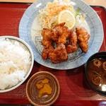 味蔵 - スタミナ唐揚げ定食(750円)
