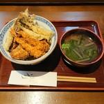 天ぷら はせ川 - 天丼(お昼) 1,200円