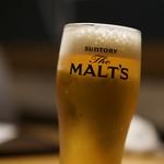 居酒屋 鮪氏  - 生ビール