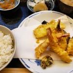 宇多川 - 上天ぷら定食(1500円)