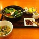 10808988 - たっぷり野菜の18穀スープごはん(豆腐サラダつき)+御茶碗