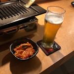 きた松 - 生ビール・白菜キムチ