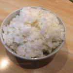 山王うどん - 白ご飯