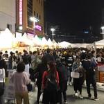燻製咖喱 くんかれ - 夜の会場風景