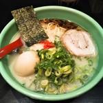麺匠 むさし坊 - ラーメン+ネギ+味玉