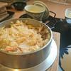 釜めしの店 やか多 - 料理写真:「釜めし(かに) 桃」①