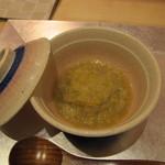 元永 - 白菜の摺り流し 焼き白子と柚子の香り