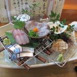 寿楽 - おまかせコースの刺身