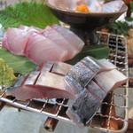 寿楽 - 刺身のアップ