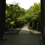 カフェ フクバコ - 石山寺 山門くぐります