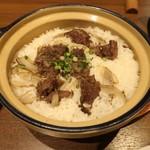 和びすとろGAKU - 牛肉と牛蒡の土鍋ごはん