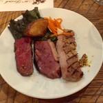 108132708 - 毛和牛ランイチ肉とマグレカナール、下田豚のグリル盛り合わせ