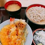 108133747 - 小天丼と小冷やしそば まいたけの天ぷら美味しかったあ
