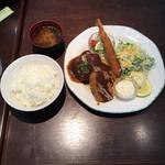 Cafe Restaurant アドリア - ハンバーグ エビ ヒレカツ  ¥1350